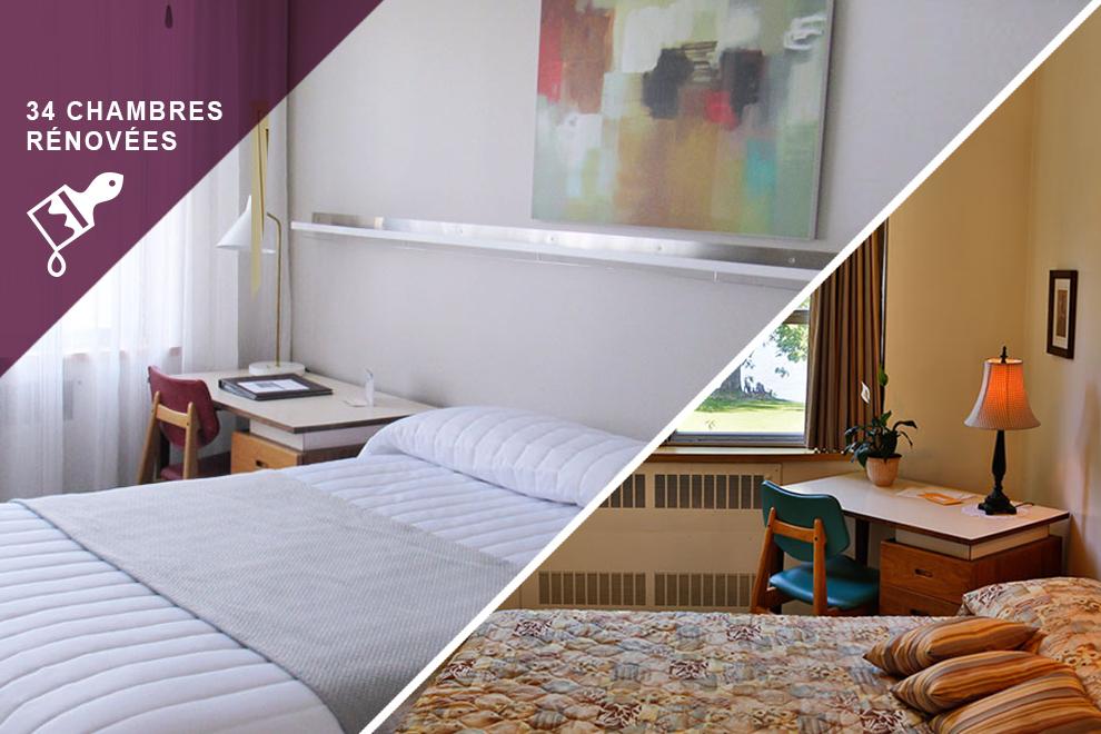 chambre un lit double manoir d 39 youvillemanoir d 39 youville. Black Bedroom Furniture Sets. Home Design Ideas